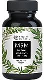 MSM Kapseln - Vergleichssieger 2019* - 365 vegane Kapseln - Laborgeprüft - 1600mg Methylsulfonylmethan (MSM) Pulver pro Tagesdosis - Ohne Magnesiumstearat, hochdosiert, hergestellt in Deutschland
