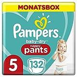 Pampers Größe 5 Baby Dry Windeln, 132 Stück, MONATSBOX, Für Atmungsaktive Trockenheit (12-17kg)