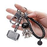 CloverCy Thor Hammer Schlüsselanhänger Keychain Superhelden The Avengers Metall Schlüsselring Auto Schlüsselanhänger Leder Weben Schlüsselbund für Männer Kinder Jungen Marvel Fans Geschenke