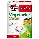 Doppelherz Vegetarier Vitamine + Mineralstoffe – Abgestimmte Nährstoffe für Vegetarier und Veganer – 30 Tabletten