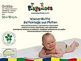 Playshoes 770213 Molton Betteinlage Kinderbett wasserdicht und atmungsaktiv, Oeko-Tex Standard 100, 50 x 90 cm