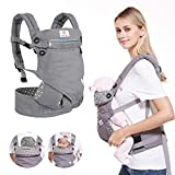 BelleStyle Babytrage - Reine Baumwolle, Atmungsaktiv, Verstellbar Ergonomische Kindertrage/Baby...