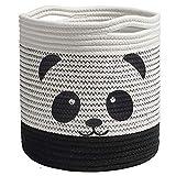 Panda Baumwolle Seil Korb Baby Aufbewahrungskörbe, Wäschekorb Faltbare Kinder Aufbewahrungsbox...