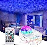 Sternenhimmel Projektor Starry Projector Light, Merece 3 in 1 Sternenprojektor Nachtlicht mit Fernbedienung, Bluetooth-Musiklautsprecher 5 Geräusche für Schlafzimmerparty,Timing für Kinder Erwachsene