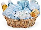 Baby Box Shop - Korb für Taufgeschenke Jungen mit Baby Sachen, Notwendigen für Neugeborene, Tuch,...