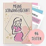Schwangerschaftstagebuch - Tagebuch für die Schwangerschaft zum selber eintragen I Geschenk für Schwangere - Blond