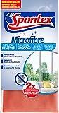Spontex Microfibre Spezial Fenstertuch, Mikrofasertuch, ideal für streifenfreie Glasoberflächen, effiziente Reinigung ohne Chemie, 30 x 30 cm, 1er Pack