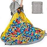 Alimto Spielzeug Aufbewahrungskorb Kinder mit Deckel, Aufbewahrungstasche für Lego Organizer...