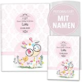 U-Heft Hülle 3-teilig Set rosa Little Lady Untersuchungsheft & Impfpasshülle personalisierbar...