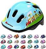 meteor® Fahrrad-Helm Kinder-Jugend-helme: Radhelm Radsport Skateboard Inline-Skate BMX Scooter - Entwickelt für die Sicherheit der jüngsten Benutzer