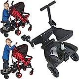Buggyboard + Zusatzsitz (Erweiterung) SET für Kinderwagen Buggy Jogger Kind Board