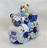 Windeltorte - Windelmotorrad'Prinz' blau