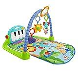 Fisher-Price BMH49 - Rainforest Piano Gym Baby Spieldecke mit Musik und Licht inkl. Spielzeug grün Babyausstattung ab Geburt