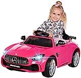 Actionbikes Motors Kinder Elektroauto Mercedes Amg GT-R - Lizenziert - 2 x 25 Watt Motor - Ledersitz...