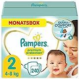 Pampers Baby Windeln Größe 2 (4-8kg) Premium Protection, 240 Stück, MONATSBOX, Pampers Weichster...