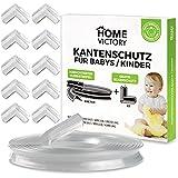 HomeVictory 6m Kantenschutz Baby [VORMONTIERTER KLEBESTREIFEN] + 8x Eckenschutz - Kindersicherung...