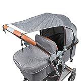 Sonnensegel für Kinderwagen Babywanne TBoonor flexibler Baby Sonnenschutz Kinderwagen mit UV Schutz...