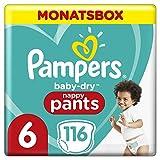 Pampers Größe 6 Baby Dry Windeln, 116 Stück, MONATSBOX, Für Atmungsaktive Trockenheit (15+kg)