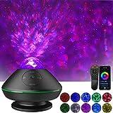 LED Sternenhimmel Projektor,Klearlook Sterne Lampe Ozeanwellen Projektor mit Musik/Fernbedienung/Wi-Fi-Modus/Bluetooth/USB-Disk/Soundsteuerung/Timer,Music Nachtlicht für Kinder Erwachsene Zimmer Party