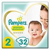 Pampers Baby Windeln Größe 2 (4-8kg) Premium Protection, 32 Stück, Tragepack, Pampers Weichster Komfort Und Schutz