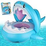 Weokeey Baby Schwimmring, Schwimmsitz Baby mit Sonnenschutz Dach Schwimmreifen Baby mit Glocken im...