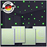 517 Leuchtsterne/Leuchtpunkte für Deinen Sternenhimmel Plus einen großen Mond gratis dazu! | selbstklebend und fluoreszierend Leuchtaufkleber | Wandtattoo