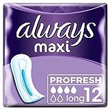 Always Maxi Profresh Long Damenbinden ohne Flügel 8er-Pack (96 Stück) super saugfähig mit...