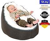Sitjoy Baby-Sitzsack doomoo | Toxproof-Perlen Füllung | Home Anthrazit | Liegekissen –...