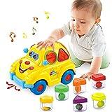HOLA Baby Spielzeug 6-18 Monate, Früherziehung Musikbus, Verschiedene Früchte/Musik/Licht/...