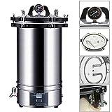 Digitaler Autoklav 18 / 24L Hochdruck-Dampfsterilisator Sterilisationstopf mit LCD-Display...