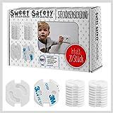 Sweet Safety® Baby Steckdosen Kindersicherung – Bombenfest – TÜV Schadstoff geprüft – Steckdosenschutz Steckdosensicherung für Baby und Kinder – 20 Stück