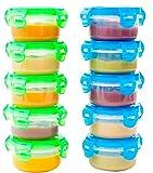 Elacra Aufbewahrungsbehälter für Babynahrung BPA-Frei Gefrierfest Mikrowellen geeignet Luftdicht...