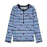 Steiff Jungen UV Shirt Funktionsunterwäsche, Blau (Forever Blue 6027), (Herstellergröße: 110)