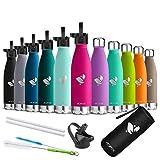 AORIN Vakuum-Isolierte Trinkflasche - Wasserflasche BPA-Frei,24 H Kühlen & 12 H Warmhalten,Ideale...