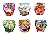 OZYOL Abenteuer 6er Pack Wasserdicht Baby Lernwindel Trainerhosen Unterwäsche Windeln Windelhose zum Toilettentraining Töpfchentraining (Bunt Mädchen, 100)