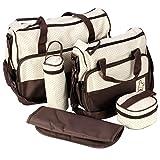 LIUONEXI 5 teiliges Pflegetasche Set Mama Handtasche Babytasche Wickeltaschen Tragetasche Umhängetasche Windeltasche