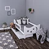 KAGU Chrisi Kinderbett Jugendbett Juniorbett Bett (140x70 cm oder 160x80 cm). Kiefernholz Massivholz...