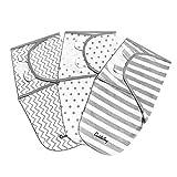 Baby Puckdecke Wickel-Decke von CuddleBug - 3er Pack pucktuch - Universal Verstellbare Schlafsack Decke für Säuglinge Babys Neugeborene 0-3 Monate Grau