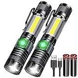Karrong Magnetisch Taschenlampe LED Wiederaufladbare Super Helle, Kleine Mini USB Taschenlampen,...