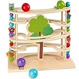 solini Kugelbahn Waldtiere / Murmelbahn / Spielzeug aus Holz für Kleinkinder ab 18 Monate / bunt