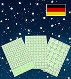 Paraboo 452 Leuchtsterne/Leuchtpunkte für deinen Sternenhimmel - selbstklebend und fluoreszierend...
