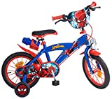 Toims 874 Spiderman Kinderfahrrad Mixed Bike Toims, 3/5 jahre-14', blau