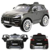 Rollplay Porsche Macan Turbo 12V viele LED Effekte Soft Start Kinderauto Kinderfahrzeug Kinder Elektroauto Grey