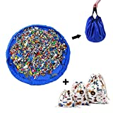 MORETRY Spieldecke Aufräumsack Spielmatte für Kinder - Spielzeug Beutel Aufbewahrungsbeutel - Spielsack Spielzeugsack Aufbewahrung - mit 3 aufbewahrungssack Kordelzugbeutel - Spielzeugbeutel