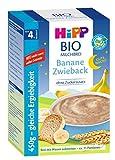 Hipp Gute-Nacht-Brei Banane Zwieback 450g, nach dem 4.Monat, 4er Pack (4 x 450g)