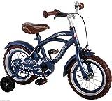 L&E 14 Zoll Fahrrad Qualitäts Kinderfahrrad matt Blau Stützräder Blue Cruiser 51401