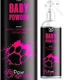 Parfüm Puder für Hunde - 250 ml - Frischer langanhaltender Talkum Geruch bis zu 3 Tagen und Aloe...