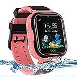 AOYMJRS Kinder Smartwatch, Tracker Smartwatch für Kinder LBS Telefon Wasserdicht IP67 Handyuhr...