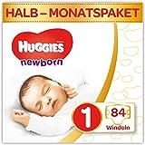 Huggies Newborn Baby Windeln Größe 1, 2 bis 5 kg, Für Neugeborene, Mit Nässeindikator, 84...