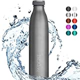 720°DGREE Edelstahl Trinkflasche milkyBottle- 750ml, 0,75l - Isolierflasche Schmal - Thermosflasche Auslaufsicher - Perfekte Outdoor Thermoskanne für Kinder, Schule, Sport, Training, Fitness, Gym